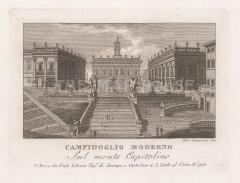 Campidoglio Moderno (Capitoline Hill): View up the cordonata to the Palazzo Senatorio.