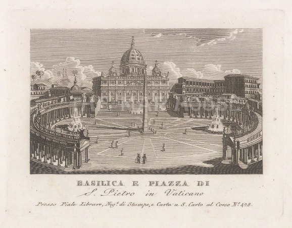 Vatican: View of St Peter's Basilica and piazza.