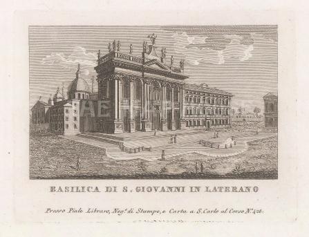 "Piale: Rome. 1839. An original antique etching. 5"" x 4"". [ITp2270]"