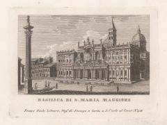 "Piale: Basilica di San Maria Maggiore, Rome. 1839. An original antique etching. 5"" x 4"". [ITp2273]"