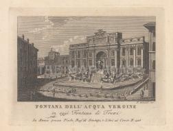 "Piale: Fontana di Trevi, Rome. 1839. An original antique etching. 5"" x 4"". [ITp2274]"