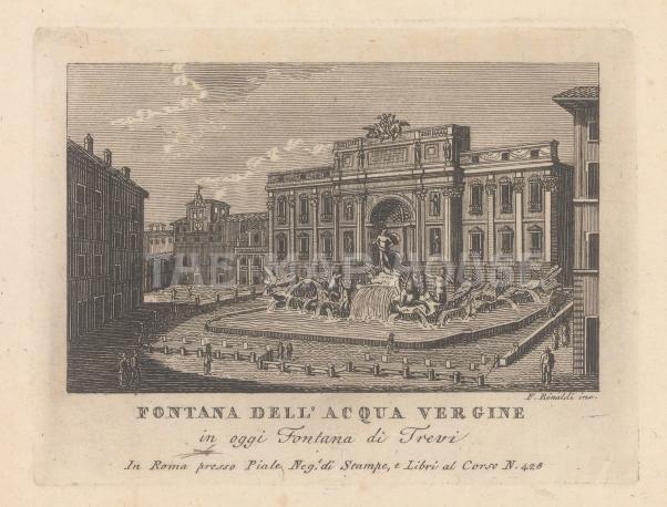 Fontana di Trevi: With the Palazzo Poli.