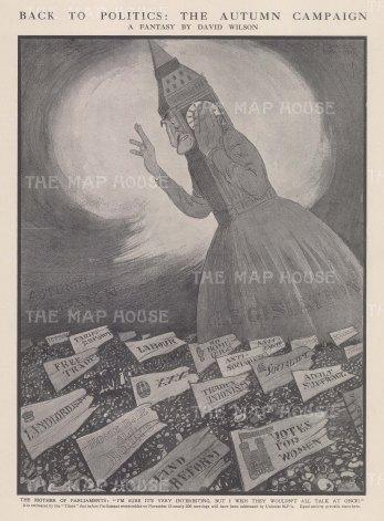 Parliament: Back to Politics. The Autumn Campaign. After the satirist David Wilson.