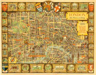 "Lee: London. 1947. An original vintage chromolithograph. 50"" x 40"". [POSTERp104]"