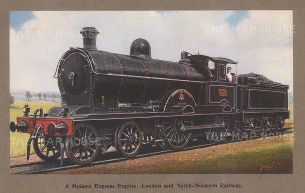 Modern Express Engine. London and North-Western Railway.