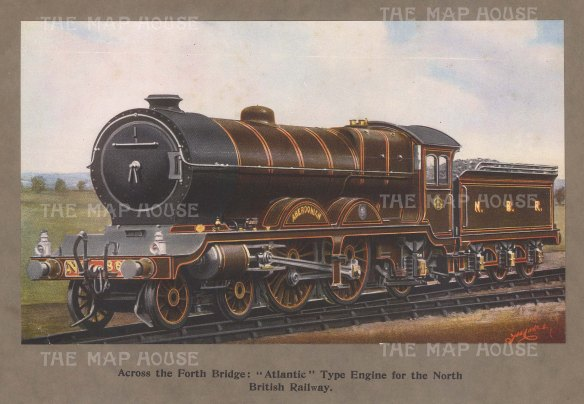 Atlantic Type Engine: North British Railway.