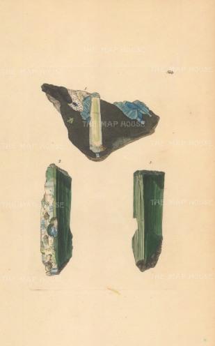 Ferrum phosphatum. Iron phosphate and Iron carbonate from Huel Kine, Cornwall.