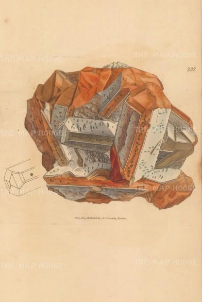 Barytes sulphata. Sulphate of barytes from Surrey.