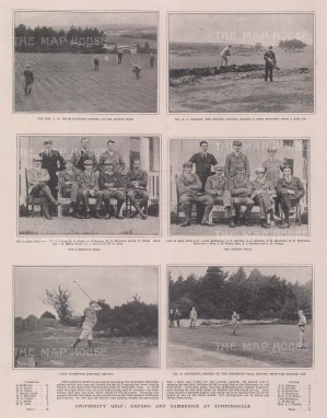 University Golf: Six scenes of Oxford v Cambridge at Sunningdale.