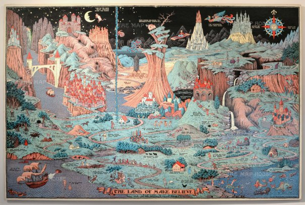 "Hess: Land of Make Believe. 1930. An original vintage chromolithograph. 36"" x 24"". [WLD4367]"