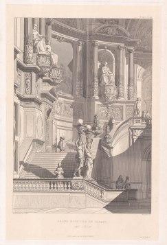 "Feuchere: Grand Staircase. c1850. An original antique wood engraving. 11"" x 17"". [ARCHp894]"
