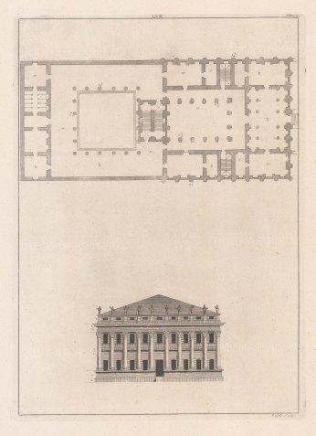 "Harris: Architectural Elevation. c1770. An original antique copper engraving. 9"" x 13"". [ARCHp918]"