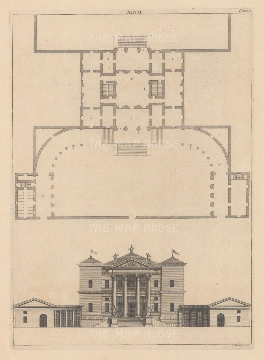 "Harris: Architectural Elevation. c1770. An original antique copper engraving. 9"" x 13"". [ARCHp920]"