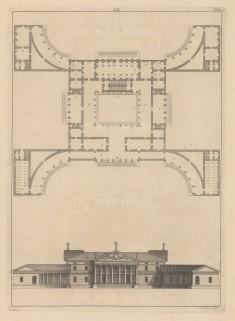 "Harris: Architectural Elevation. c1770. An original antique copper engraving. 9"" x 13"". [ARCHp921]"