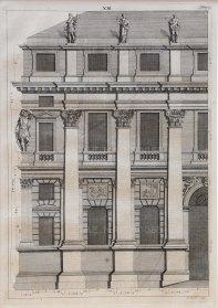 """Picart: Facade. 1715. An original antique copper engraving. 10"""" x 13"""". [ARCHp942]"""