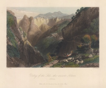 Souli: View of the valley and river Acheron.