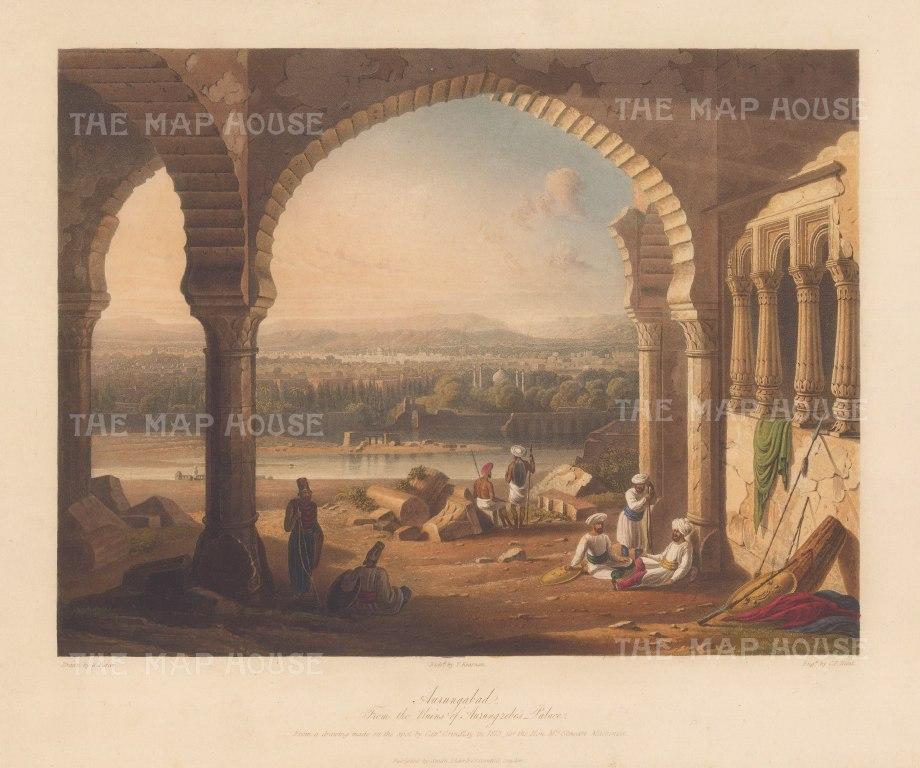 """Grindlay: Maharashtra. 1830 An original colour antique aquatint. 13"""" x 9"""". [INDp1483]"""