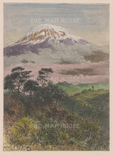 View of the western peak Kibo.