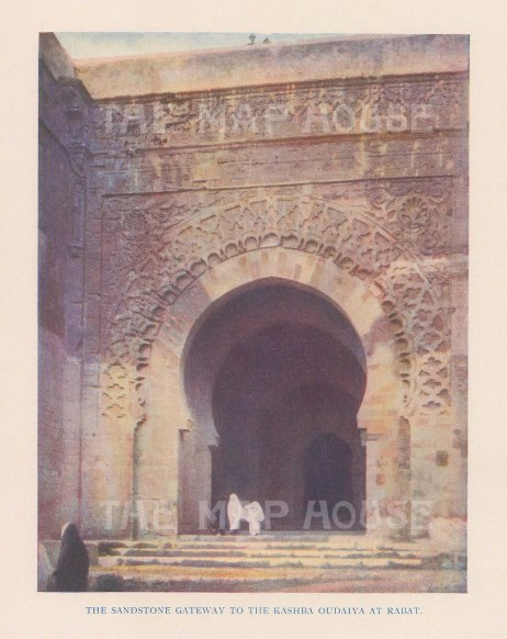 View of the sandstone gateway to the Udayas Kasbah.
