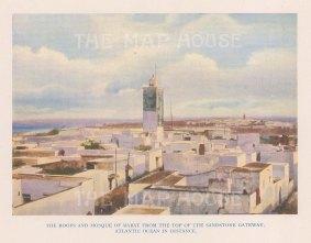 """Vernon: Rabat, Morocco. 1927. An original colour vintage photo-lithograph. 5"""" x 4"""". [AFRp1432]"""