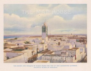 "Vernon: Rabat, Morocco. 1927. An original colour vintage photo-lithograph. 5"" x 4"". [AFRp1432]"