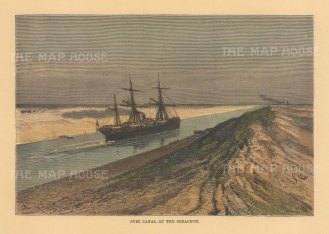 View of the Suez Canal.