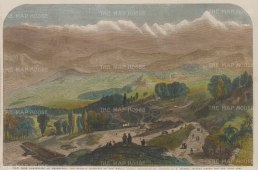View from Darjeeling of Deodunga the highest mountain in the world lately measured by Colonel A. S. Waugh. Waugh succeeded Everest as Surveyor General, and would later name the peak after his predecessor as it had been impossible to ascertain one name for that particular peak.