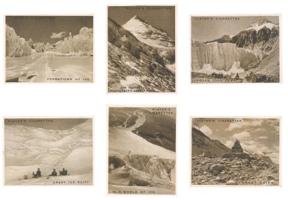 Images from the ill-fated expedition of Mallory and Irvine. Six cards including the tip of Everest.