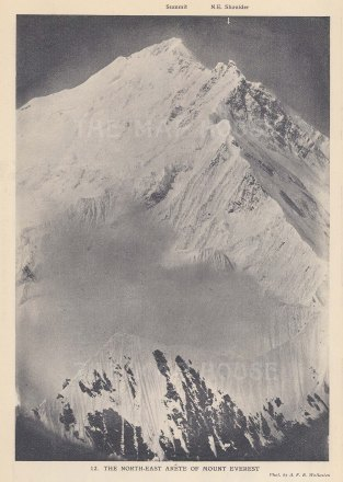 Mount Everest: The North East Arete. 1921 British Reconnaisance Expedition.