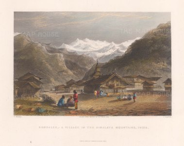 Kursalee: With the Himalayas rising above.