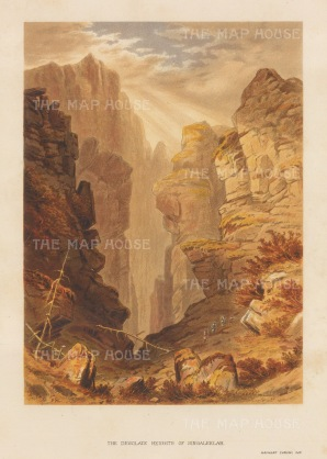 Singaleelah: View of the desolate heights. After the first Western artist to depict the Eastern Himalayas during a perilous 600 mile journey.