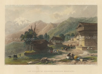 Khandoo: View of the village and temple near the Choor Chandni peak.