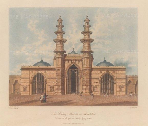 Gujaret: Ahmedabad. The mosque of Sidi Bashir and the Shaking Minarets (Jhutta Minar).