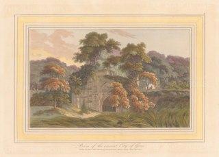 "Daniell: Jannatabad (Gaur). 1813. A hand coloured original antique aquatint. 9"" x 7"". [INDp1532]"