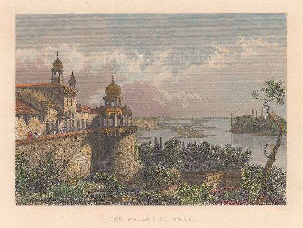 Agra: View of the Palace.