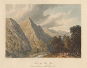 Maharashtra: Bhor Ghat. View of the passage in the Sahyadri (Western Ghats) mountain range. After William Westall RA.