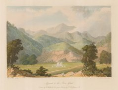 Maharashtra: Bhor Ghat. View of the approach to the Sahyadri (Western Ghats) mountain range. After William Westall RA.