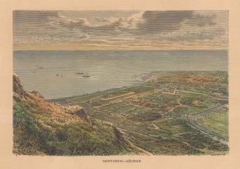 Reunion Island: Saint Denis. View towards the sea.