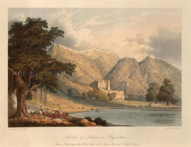 Raputana (Ragasthan): Fortress of Bowrie. After Capt. Charles Auber.