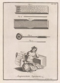 Acupunctura Japonum: With illustrations of a figure illustrating acupoints, needles and storage box.