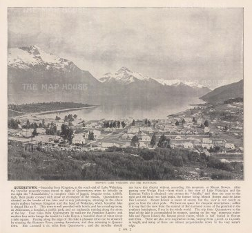 Panorama towards Lake Wakatipu and the Remarkables.