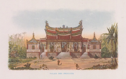 "Nicolas: Palais des Produits. 1900. An original antique chromolithograph. 6"" x 4"". [SEASp1730]"