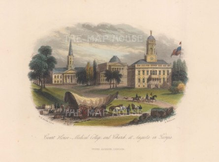 View of the Court House, Medical College and chapel.