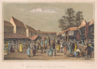 Kabul: View of the Bazaar in the fruit season. After Benjamin Clayton.