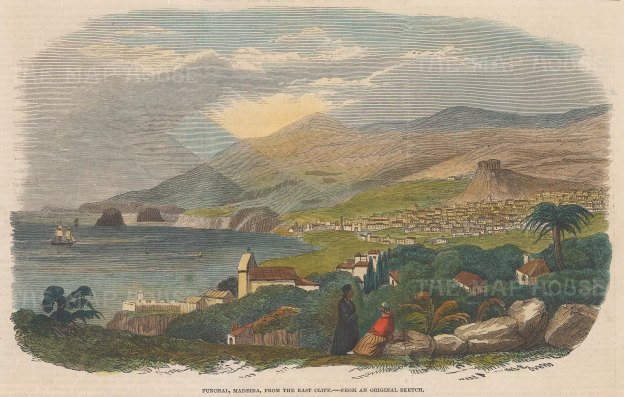 View of Funchal from the East Cliff.