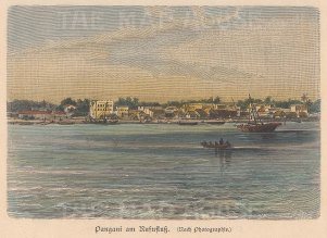 Pangani. View of town from the sea.