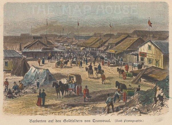 Barbeton, Transvaal. View of main street.