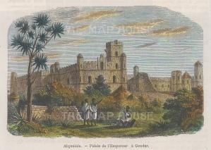 Gondar, Ethopia. View of Emperor Fasilides's castle.