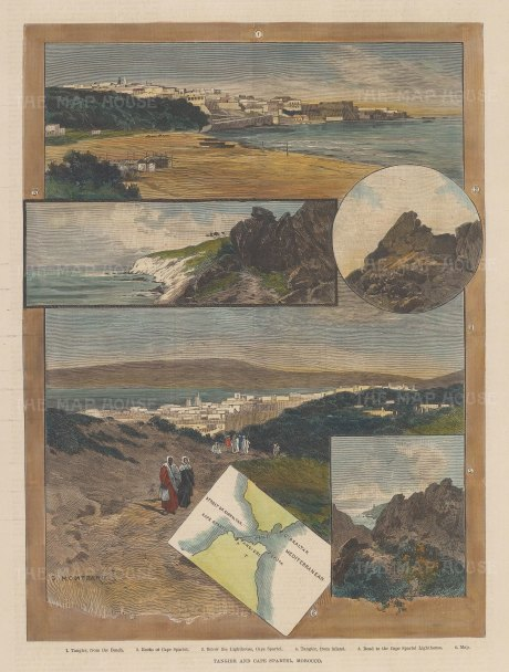 Views of Tangier and Cape Spartel.