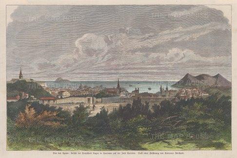 Panoramic view of Angra do Herísmo. After Francesco Reinhard.